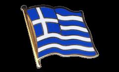 Greece Flag Pin, Badge - 1 x 1 inch