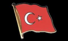Turkey Flag Pin, Badge - 1 x 1 inch