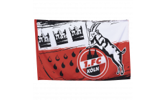 1. FC Köln Wappen Flag - 3.3 x 5 ft. / 100 x 150 cm