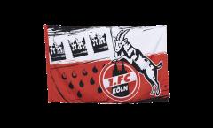 1. FC Köln Wappen Flag - 2.5 x 4 ft. / 80 x 120 cm
