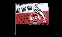1. FC Köln Wappen Hand Waving Flag - 2 x 3 ft. / 60 x 90 cm