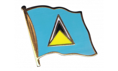 Saint Lucia Flag Pin, Badge - 1 x 1 inch