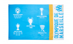 Olympique Marseille Palmarès Flag - 3 x 5 ft. / 90 x 150 cm
