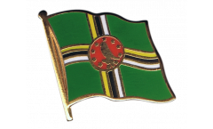 Dominica Flag Pin, Badge - 1 x 1 inch