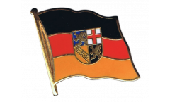 Germany Saarland Flag Pin, Badge - 1 x 1 inch