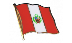 Peru Flag Pin, Badge - 1 x 1 inch