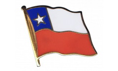 Chile Flag Pin, Badge - 1 x 1 inch
