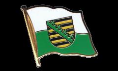 Germany Saxony Flag Pin, Badge - 1 x 1 inch