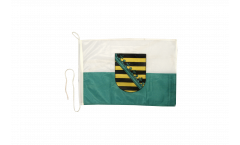 Germany Saxony Boat Flag - 12 x 16 inch
