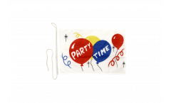 Party Time Boat Flag - 12 x 16 inch
