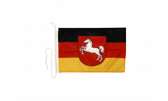 Germany Lower Saxony Boat Flag - 12 x 16 inch