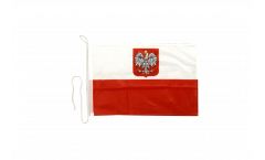 Poland with eagle Boat Flag - 12 x 16 inch