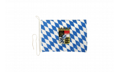 Germany Bavaria with coat of arms Boat Flag - 12 x 16 inch
