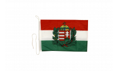 Hungary with coat of arms Boat Flag - 12 x 16 inch