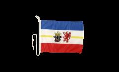Germany Mecklenburg Boat Flag - 12 x 16 inch
