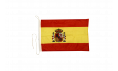 Spain with coat of arms Boat Flag - 12 x 16 inch