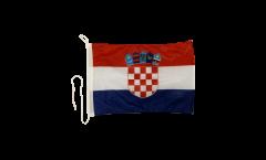 Croatia Boat Flag - 12 x 16 inch
