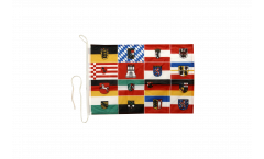Germany 16 states Boat Flag - 12 x 16 inch