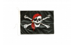 Pirate with bandana Boat Flag - 12 x 16 inch