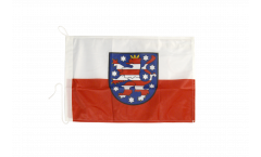Germany Thuringia Boat Flag - 12 x 16 inch