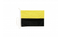 Black / yellow Boat Flag - 12 x 16 inch