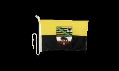Germany Saxony-Anhalt Boat Flag - 12 x 16 inch