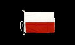 Poland Boat Flag - 12 x 16 inch