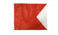 Bravo (B) Nautical Signal, Boat, Sail Flag - 75 x 90 cm