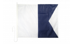 Alpha (A) Nautical Signal, Boat, Sail Flag - 75 x 90 cm