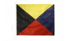 Zulu (Z) Nautical Signal, Boat, Sail Flag - 75 x 90 cm