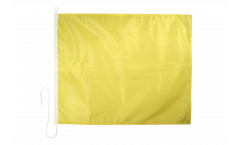 Quebec (Q) Nautical Signal, Boat, Sail Flag - 75 x 90 cm