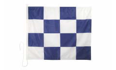 November (N) Nautical Signal, Boat, Sail Flag - 75 x 90 cm