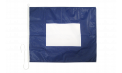 Papa (P) Nautical Signal, Boat, Sail Flag - 75 x 90 cm