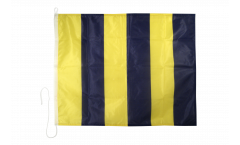 Golf (G) Nautical Signal, Boat, Sail Flag - 75 x 90 cm