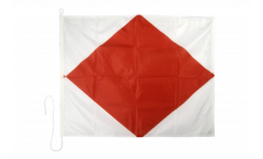 Foxtrot (F) Nautical Signal, Boat, Sail Flag - 75 x 90 cm