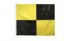 Lima (L) Nautical Signal, Boat, Sail Flag - 75 x 90 cm