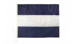 Juliet (J) Nautical Signal, Boat, Sail Flag - 75 x 90 cm