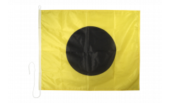 India (I) Nautical Signal, Boat, Sail Flag - 75 x 90 cm