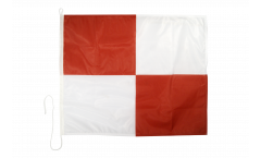 Uniform (U) Nautical Signal, Boat, Sail Flag - 75 x 90 cm