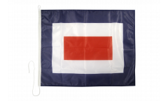 Whiskey (W) Nautical Signal, Boat, Sail Flag - 75 x 90 cm