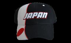 Japan Cap, white-black, flag