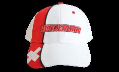 Switzerland Cap, white-red, flag