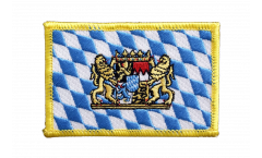 Germany Bavaria with lion Patch, Badge - 3.15 x 2.35 inch