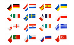 Football 2012, 16 country flag pack - 30 x 45 cm