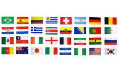 Flag Pack World Cup 2014 - 30 x 45 cm