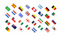 Hand Waving Flag Pack World Cup 2014 - 30 x 45 cm