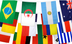 World Cup 2014 Bunting Flags - 5.9 x 8.65 inch