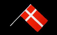 Denmark Hand Waving Flag - 2 x 3 ft.
