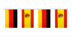 Germany - Spain Friendship Bunting Flags - 5.9 x 8.65 inch