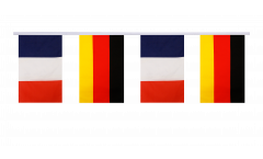 France - Germany Friendship Bunting Flags - 5.9 x 8.65 inch